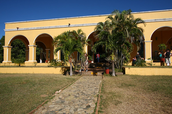 The house where plantation owners were living.