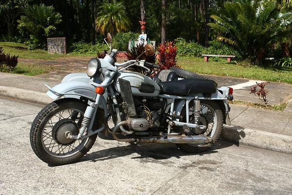 One of the few motorbikes that we saw outside Santiago de Cuba.