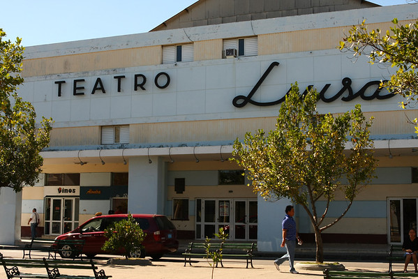 Theater, like many other places seemed to be closed.