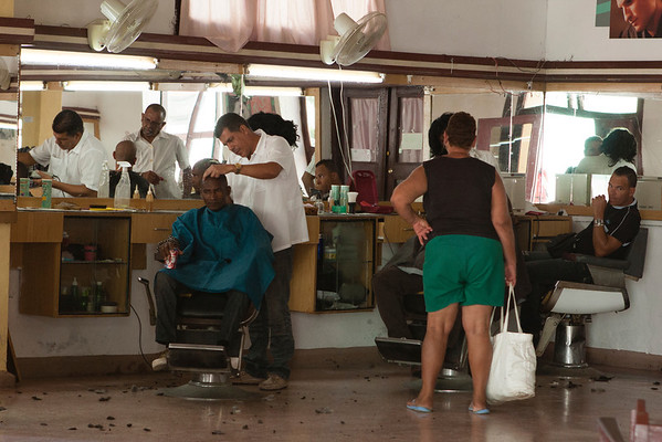Another picture taken from the door. This barber place could handle at least 10 people at once (just a corner visible here).