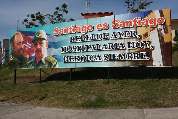 Santiago is Santiago. Rebel yesterday, welcoming today, always heroic.
