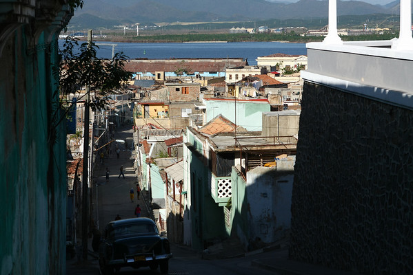 The city is known for its narrow streets and is built on a hilly area.