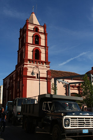 There are a couple of churches in the city center.