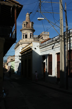 Side street in Santiago de Cuba early in the morning.