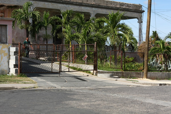 Entrance to hospital.