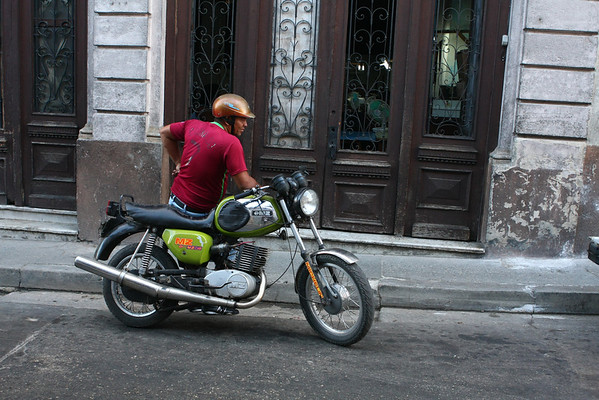 There are many motorbikes on streets. In other cities they are rarely used.