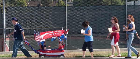 Driving around town, we saw lots of groups pre paring for 4th of July celebrations, including these folks in Cupertino
