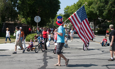 The parade passes by.