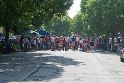 Neighbors gathered for the parade.