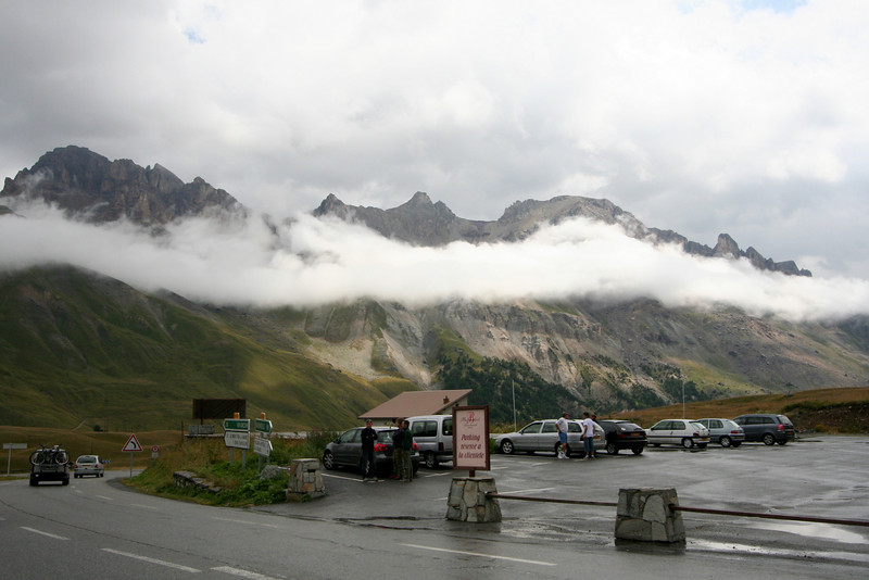 The view from the Col du Lautaret. Not a great day to be going up to the Col du Galibier.