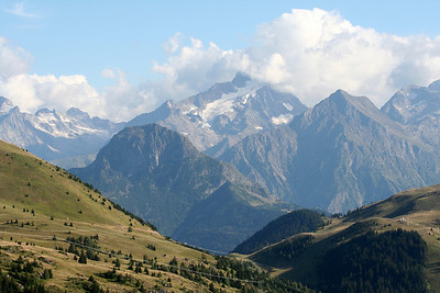 The view from Alpe d'Huez in the French Alps.