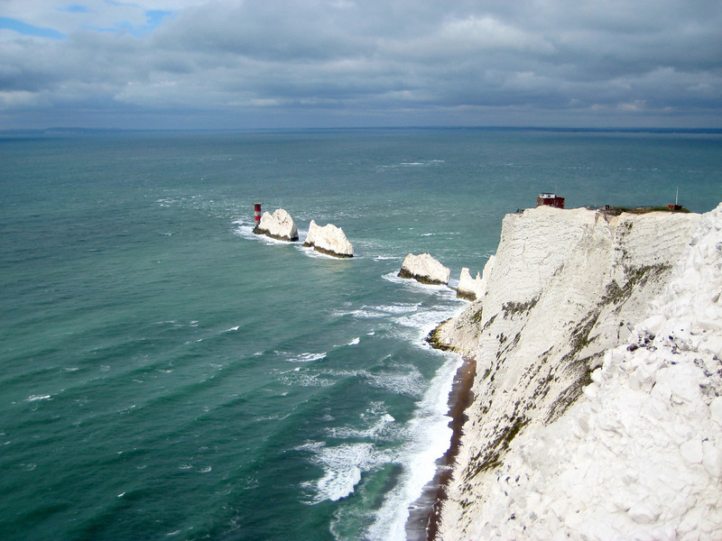 The Needles on the Western point of the Isle of Wight.