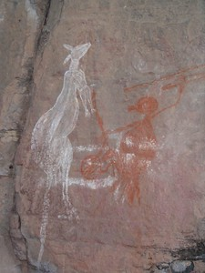 Many Aboriginal rock paintings say something about the food that the locals ate and hunted for.