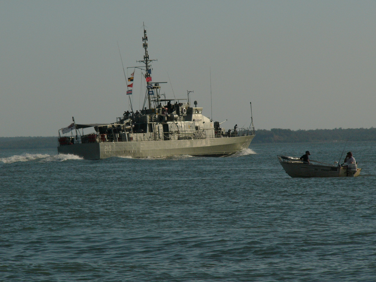 Patrol boat on Darwin harbour.