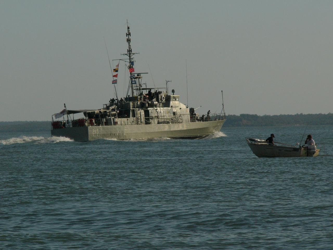 Patrol boat on Darwin harbour.