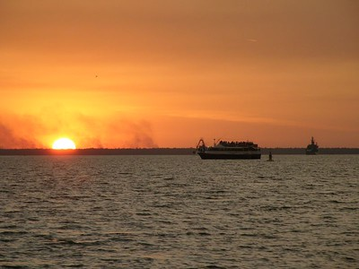 Sunset at Darwin harbour.