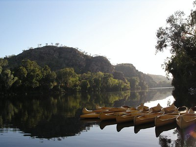 Canoes at Katherine Gorge
