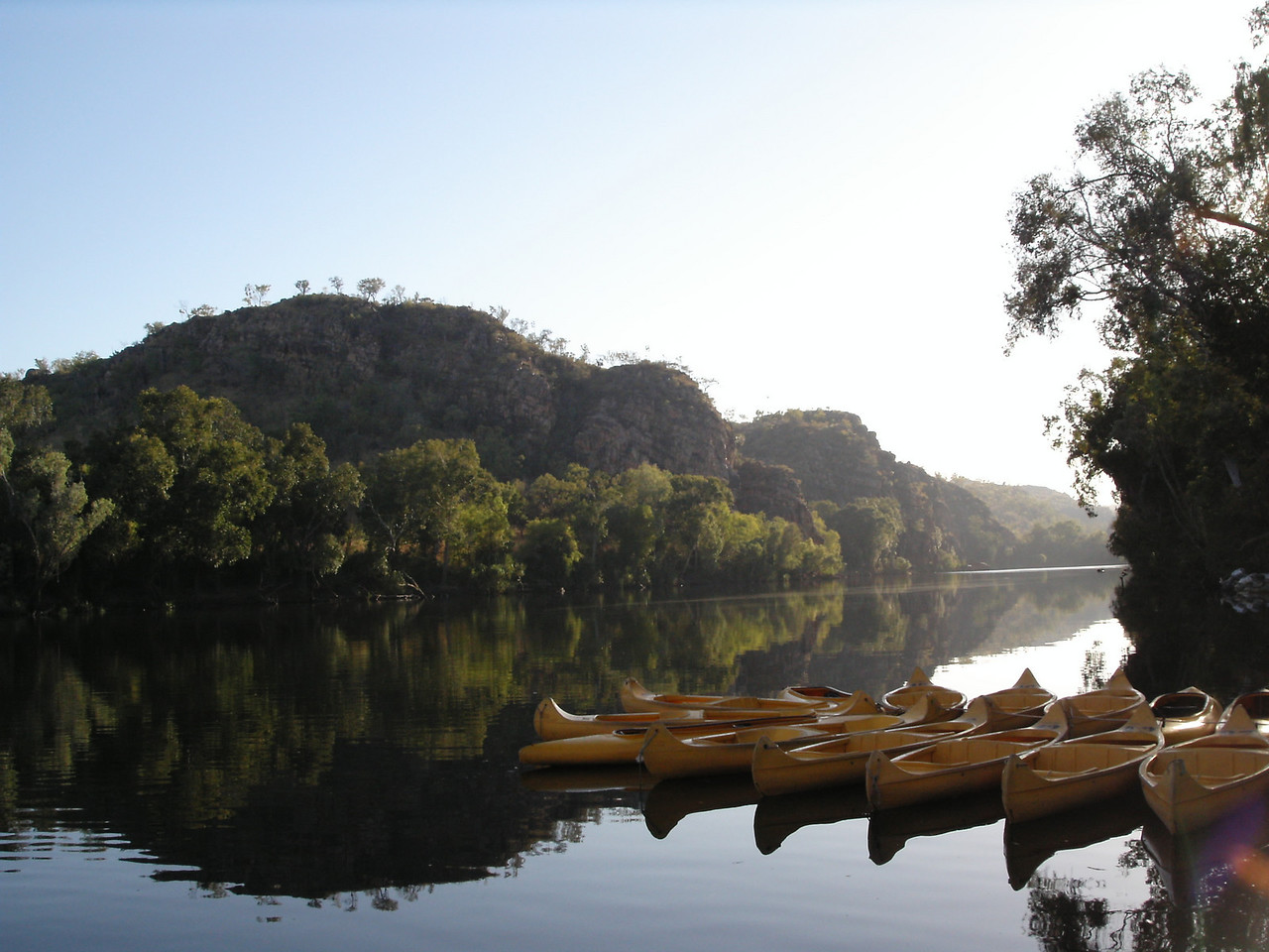 Canoes at Katherine Gorge
