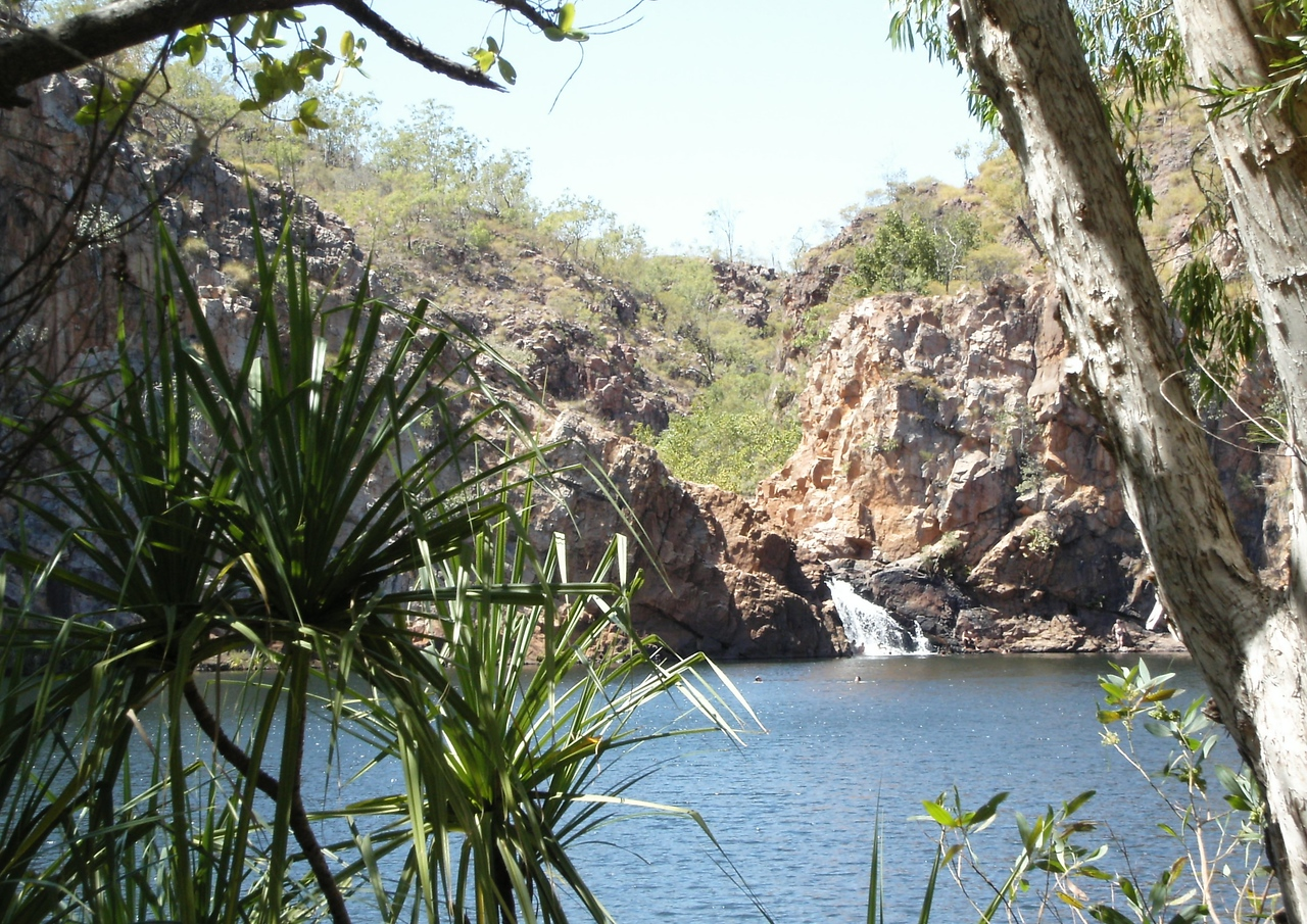 Edith Falls. You can swim in this pool, there are no crocodiles!