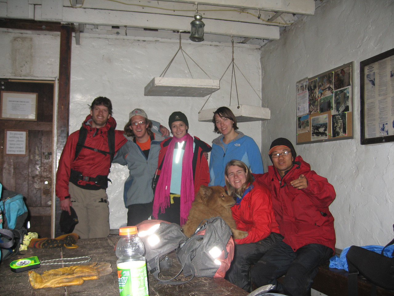 3rd year - Group shot inside the hut.