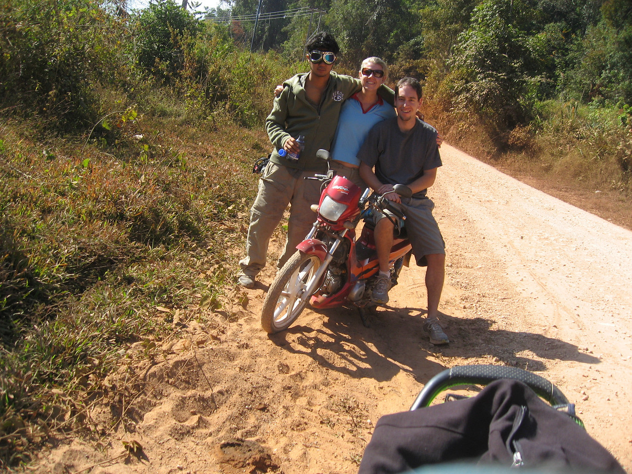2009 - The year of our honeymoon. For thanxgiving this year, we were in Lao on our newly purchased motorbikes.