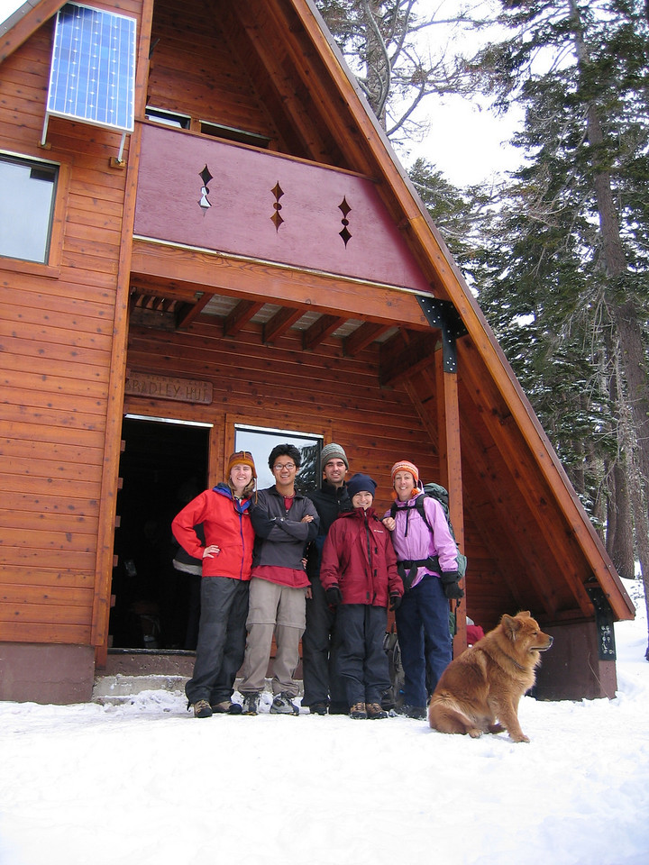 2nd year - Bradley Hut with Don, Rebecca, & Mingie