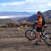 Timber posing with Death Valley in the background.