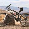 My mountain bike at Augereberry Point in Death Valley National Park.