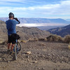 Forrest taking a picture of Death Valley from a vantage point near Aguereberry Point.