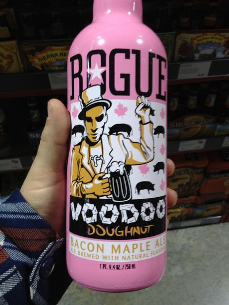 We got this bacon maple donut flavored beer for the Death Valley trip.  It wasn't bad and the flavor was not as strong as I thought it would be.