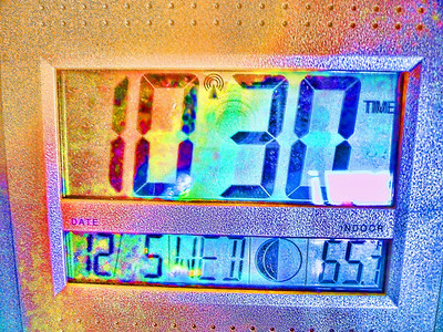 December Photo a Day - Day 5 - Temperature  This was the indoor temp this morning right before heading off to the gym.