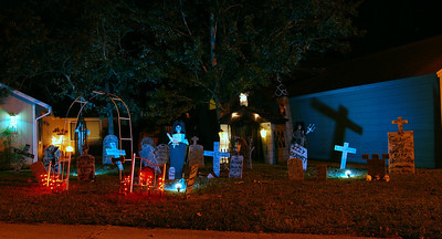18 First night time test of the Halloween yard