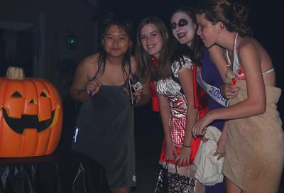 41 Teen Girls with Jack the Pumpkin on Halloween