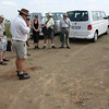 Simon our guide and host, draws out a sand-map of South Africa in 1899.