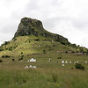The peak of Isandhlwana with the scattered cairns marking mass graves or individuals that were identified 3 months after the battle once the British returned. The majority of the graves are from the British 2nd Battalion of the 24th Regiment, a Warwickshire based unit, which had a lot of Welshmen in it. It became the South Wales Border Regiment after the Boer War in 1882.