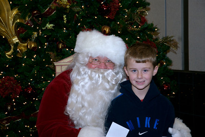 Dusty with Santa 2007