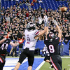 Will Fehlinger | The Herald-Tribune<br /> Defensive backs Nathan Griffin (44) and Chase Ludwig (9) break up a potential go-ahead pass to Lowell's Jaeger Gill late in the 4th quarter of East Central's 14-7 state finals victory.