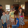 Kids gather for a group shot in Kim's living room.