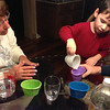preparing to color eggs