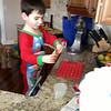 Nate preparing jello to make<br /> jello - jelly beans<br /> so patient and careful!