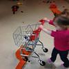 Emma doing a little Easter shopping