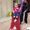 Emma enjoying the slide