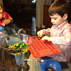 Nate is harvesting his jelly beans<br /> Emma is enjoying them