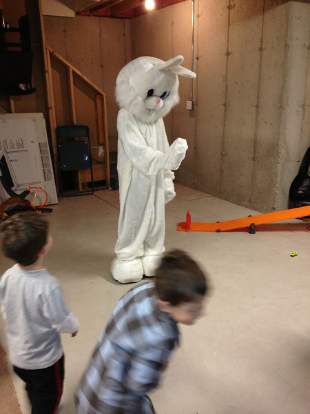 """Mommy's group """"Easter Party"""" at Brandi's<br /> special visitor!"""
