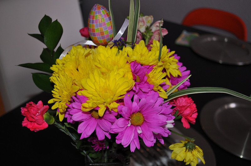 Easter flowers for Laura + Chris.  They wouldn't let us bring anything...