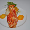 Course #2:  Maine Lobster on Halibut, with cumquats and herbs.