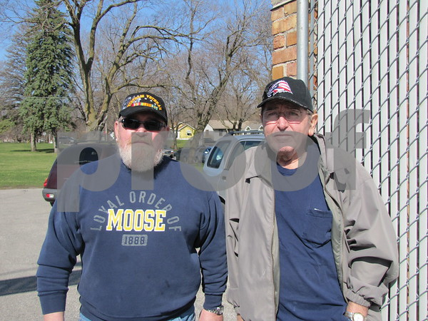 Brothers Mike and Bob Spencer, members of the Moose Lodge were working at the event.