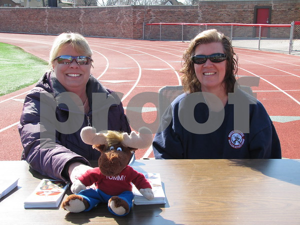 Michelle Voight, Senior Regent of the Moose Lodge, and Janis Kuhn.