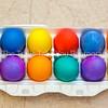 8  Colored Eggs