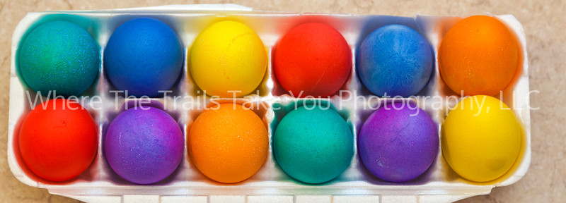 9  Colored Eggs